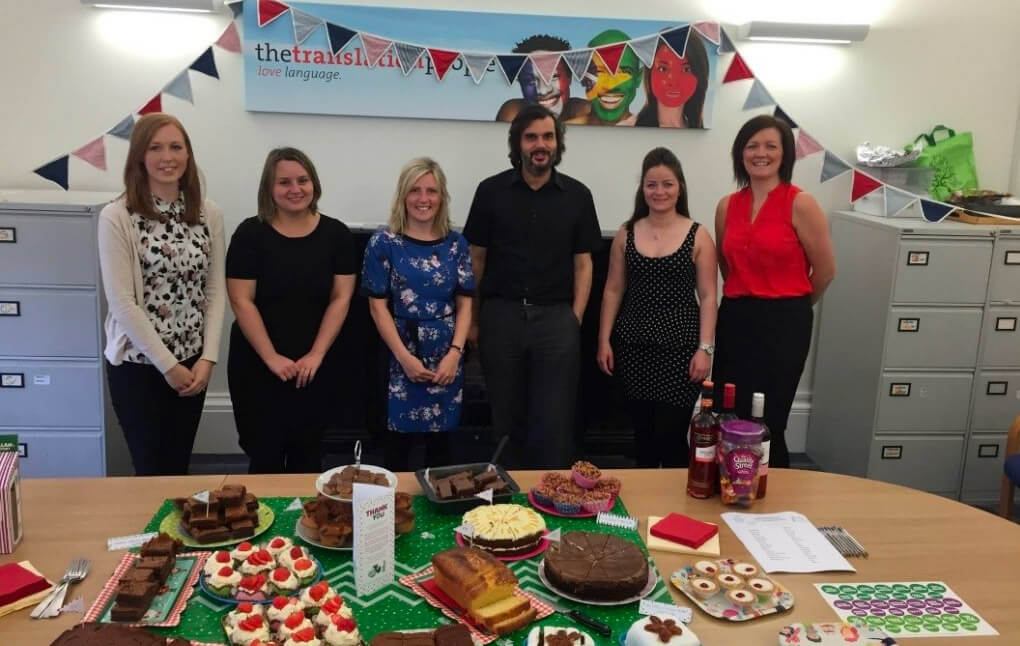 "The Translation People take part in ""The world's biggest coffee morning"""